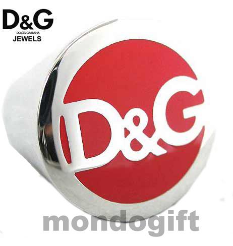 D&G DOLCE & GABBANA GIOIELLI ANELLO IN ACCIAIO LOGATO DJ0071 M.22