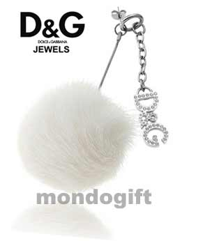 D&G DOLCE & GABBANA GIOIELLI MONO ORECCHINO SNOW DJ0301